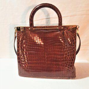 Kwanpen Handbag Raffles Collection Crocodile